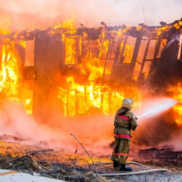 Un sinistre : incendie